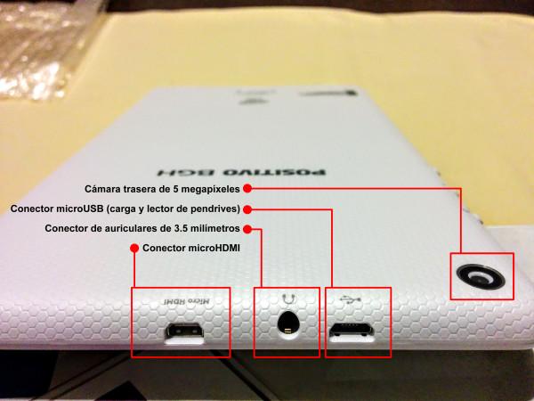Conectores en extremo superior