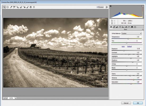 Camera Raw permite modificar desde Photoshop todos los parámetros que almacena este formato.