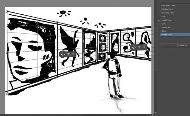Las herramientas de perspectivas hacen que el dibujo más técnico sea más sencillo. Aún cuando sea solo un bosquejo.