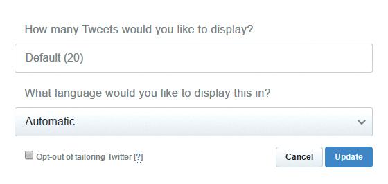 Las opciones para la vista también varían según el tipo de contenido que queramos mostrar.