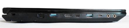 En el lateral vemos las salidas de video HDMI y Mini-DisplayPort, que permiten agregar hasta 2 pantallas adicionales.