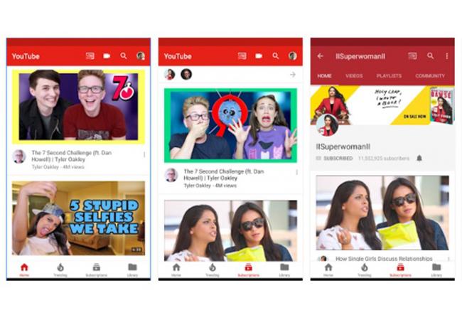 YouTube estrena interfaz en su aplicación para Android