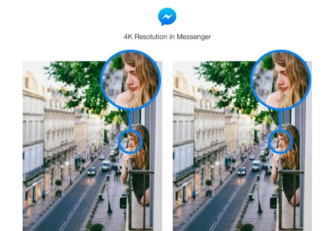 Facebook Messenger permite publicar imágenes con mayor resolución
