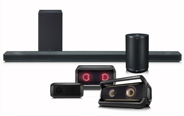 La nueva línea de audio de LG, incluyendo su primer altavoz inteligente.