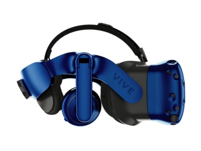 Dos micrófonos, dos cámaras al frente, y un mejorado sistema para el ajuste en cabeza; algunas de las mejoras visibles en el cuerpo del Vive Pro VR.