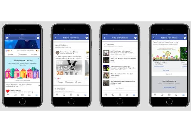 Facebook lanza nueva sección que muestra noticias locales