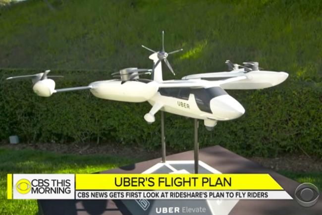 Uber presentó los taxis voladores que utilizarán en un futuro cercano