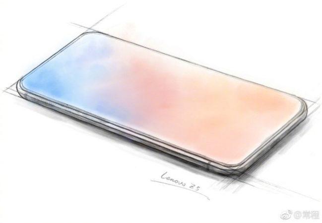 """Un diseño conceptual que aventuraba cómo luciría el Z5 de Lenovo, sin muesca o """"notch""""."""