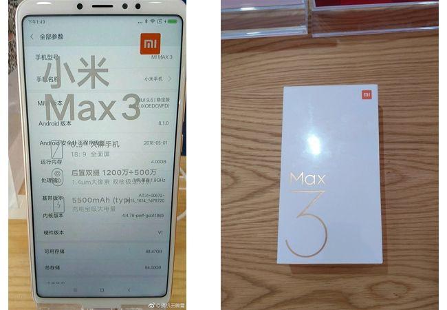 El Xiaomi Mi Max 3 muestra su diseño en varias imágenes oficiales