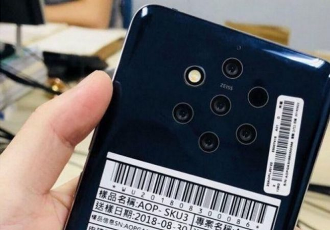 Nokia desarrolla un teléfono de cinco cámaras