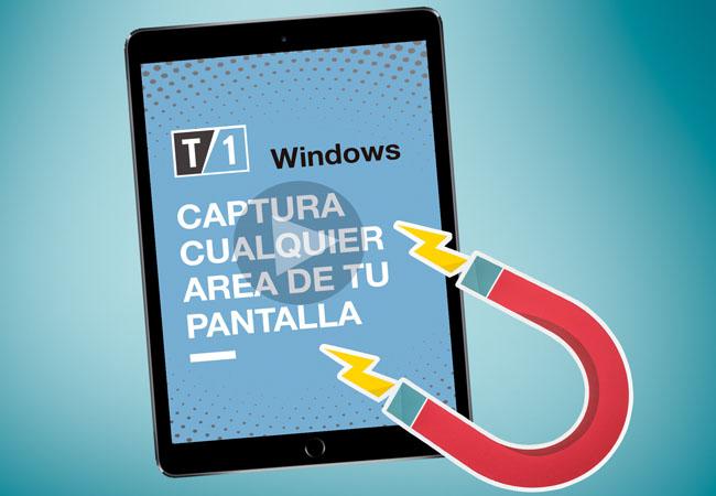 Cómo capturar una parte de la pantalla en Windows