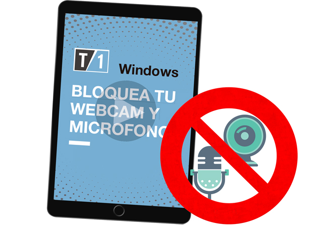 imagen de webcam y micrófono bloqueados