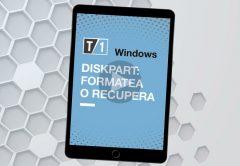 Carátula de Formatear o recuperar con Diskpart