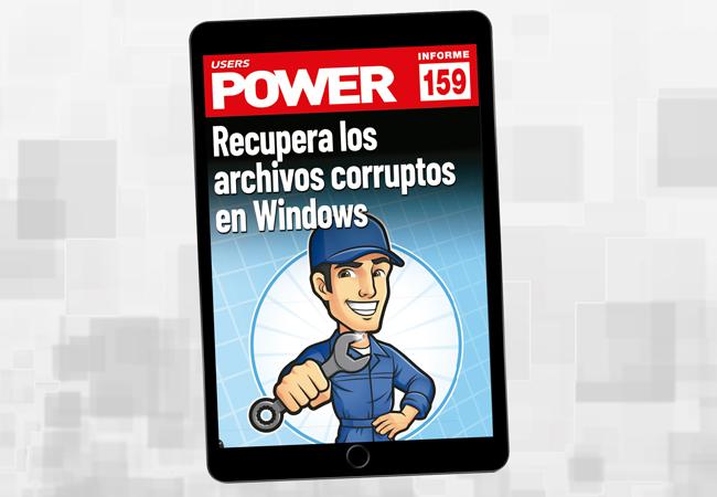 Tapa Informe USERS 159 Recupera archivos corruptos en Windows